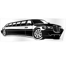 Cartoon limousine Poster