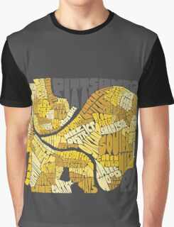 Pittsburgh Neighborhood Map Graphic T-Shirt