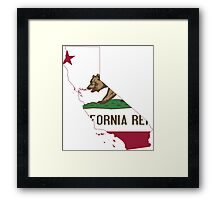 California Flag Map  Framed Print