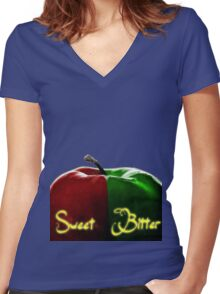 once apples Women's Fitted V-Neck T-Shirt