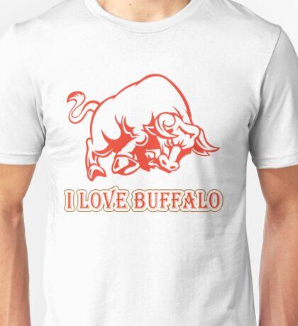 I Love Africa Buffalo T Shirts For Men And Women Unisex T-Shirt