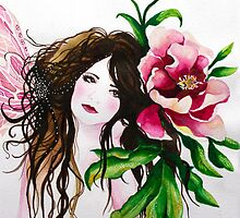 Pink Peony Faerie by Helenfaerieart
