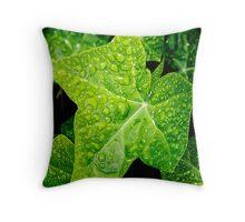 Wet Ivy Throw Pillow