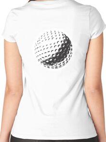 GOLF, GOLFING, SPORT, Golf Ball, NAVY BLUE Women's Fitted Scoop T-Shirt