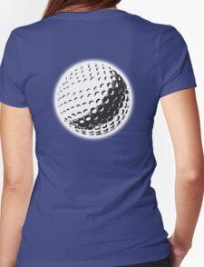 GOLF, GOLFING, SPORT, Golf Ball, NAVY BLUE Womens Fitted T-Shirt
