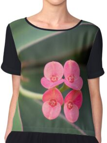 Four Small Flowers Chiffon Top