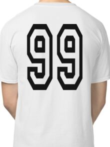 99, TEAM, SPORTS, NUMBER 99, Ninety Nine, Competition Classic T-Shirt
