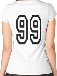 99, TEAM, SPORTS, NUMBER 99, Ninety Nine, Competition Women's Fitted Scoop T-Shirt