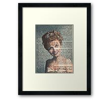 Twin Peaks Laura Palmer Portrait on Diary page Framed Print