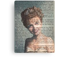 Twin Peaks Laura Palmer Portrait on Diary page Canvas Print