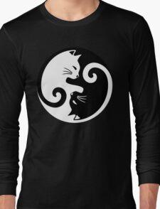 Yin Yang Cat Long Sleeve T-Shirt