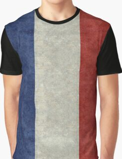 Flag of France, vintage retro style Graphic T-Shirt