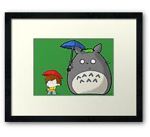 TheDandyTiger Chibi Style Totoro inspired Framed Print