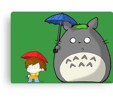 TheDandyTiger Chibi Style Totoro inspired Canvas Print