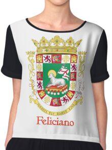 Feliciano Shield of Puerto Rico Chiffon Top