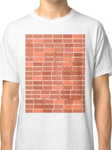 Pattern 021 Red Brick Wall, Rectangles Classic T-Shirt