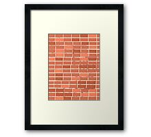 Pattern 021 Red Brick Wall, Rectangles Framed Print