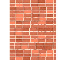 Pattern 021 Red Brick Wall, Rectangles Photographic Print