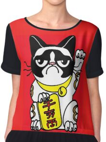 GRUMPY CAT Chiffon Top