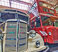 Vintage buses by Beverley Goodwin