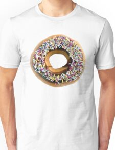 Chocolate Ring Donut Covered With Sprinkles Unisex T-Shirt