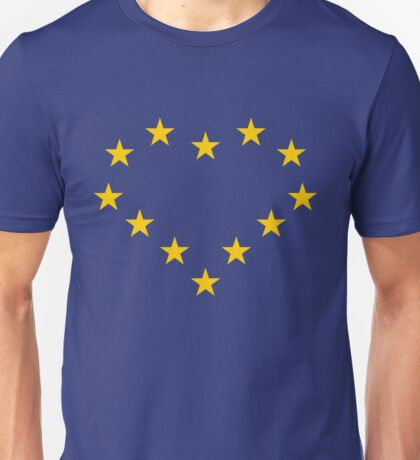 EU heart Unisex T-Shirt