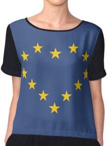 EU heart Chiffon Top