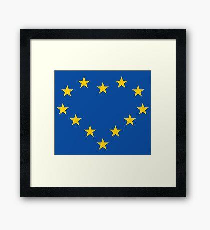 EU heart Framed Print