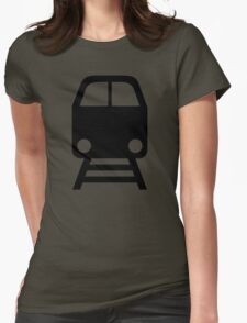 Train icon Womens Fitted T-Shirt