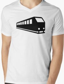 Train locomotive Mens V-Neck T-Shirt