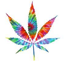 Tie Dye Cannabis Leaf by chakrasquares