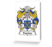 Fuentes Coat of Arms/Family Crest Greeting Card