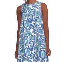 Seamless abstract pattern. A-Line Dress