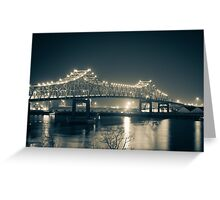 The Bridge Over The River Greeting Card