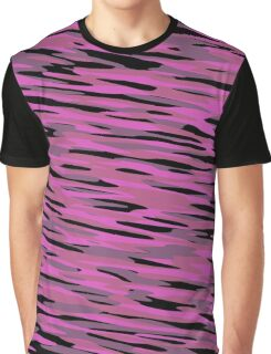 pink black and gray camo abstract Graphic T-Shirt