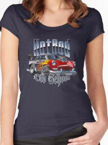 cartoon hot rod Women's Fitted Scoop T-Shirt