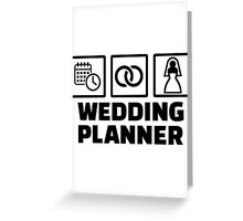 Wedding planner Greeting Card