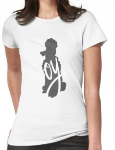 Oy poodle Womens Fitted T-Shirt