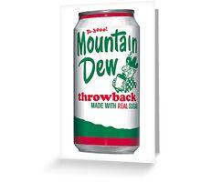 Mountain Dew Throwback  Greeting Card