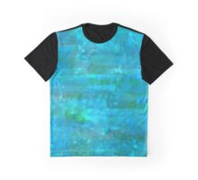 Blue Green and Turquoise Watercolor  Graphic T-Shirt