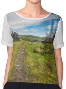 Welsh Cottage Ruins Chiffon Top