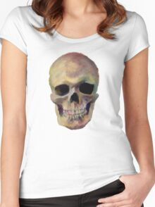 Skull 1 Women's Fitted Scoop T-Shirt