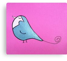 Silver Bird Canvas Print