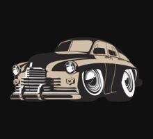 cartoon retro car One Piece - Short Sleeve