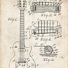 Gibson Les Paul Guitar US Patent Art 1955 by Steve Chambers