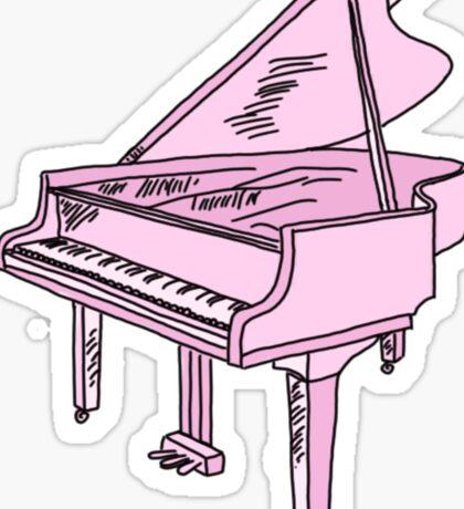 baby pink grand piano Sticker
