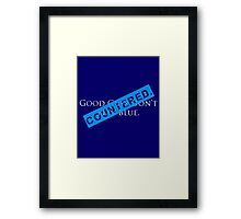 Countered Framed Print