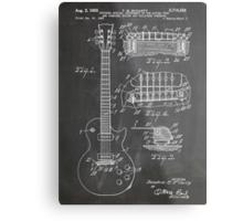 Gibson Les Paul  guitar us patent art 1955 blackboard Metal Print