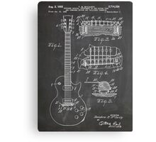 Gibson Les Paul  guitar us patent art 1955 blackboard Canvas Print