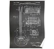Gibson Les Paul  guitar us patent art 1955 blackboard Poster